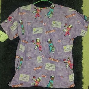 Medical scrub uniform top